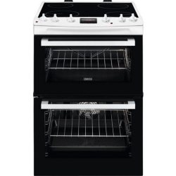 Zanussi ZCV66078WA 60cm Electric Double Oven