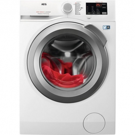 AEG L6FBI842N 8 kg 1400 Spin Washing Machine - White / Silver door - A+++ Energy Rated