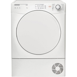 Hoover HLC8LF Sensor Dry Condenser Tumble Dryer - White - B Energy Rated