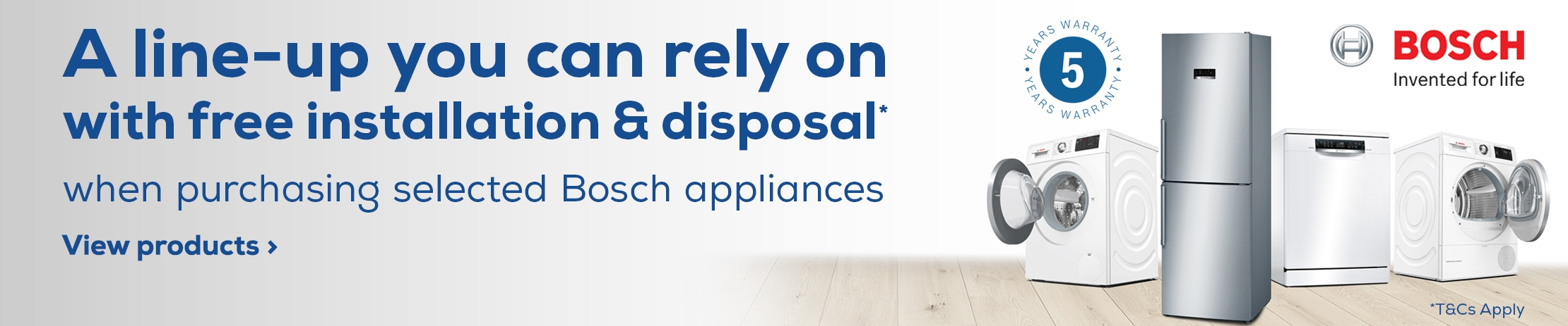 Bosch Free Install and Disposal Promotion
